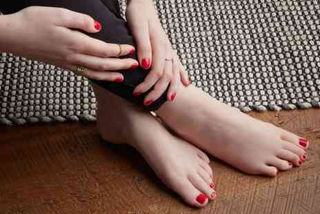 Inches Beauty Salon - Gelish Polish on Hands and Feet Plus Eyebrow Tint and Spray Tan - Save 0%