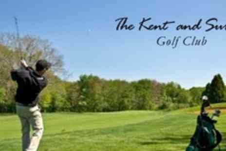 The Kent and Surrey Golf Club - 18 Holes of Golf With Bacon Roll and Coffee For Two - Save 64%
