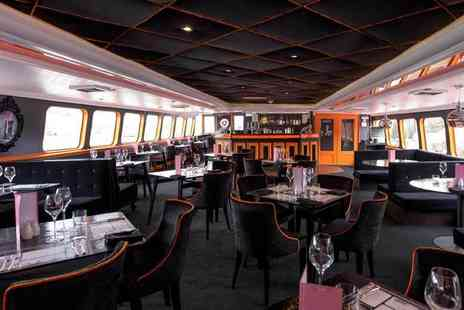 R S Hispaniola - Two course meal with Prosecco for two aboard the R.S. Hispaniola and a River Red Rover ticket - Save 73%