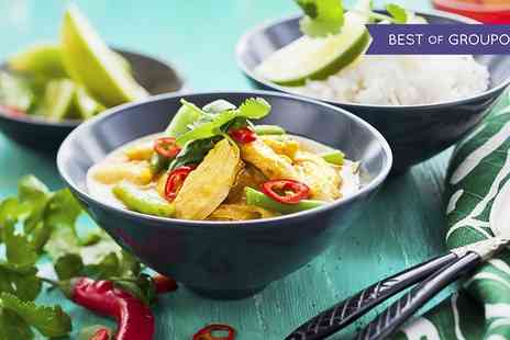 Crazy Wendys - Two Course Thai Meal With Prawn Crackers and Side for Two or Four - Save 57%