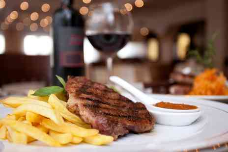 Mae Maria - Starter of Choice, Steak and Wine for Two or Four - Save 29%