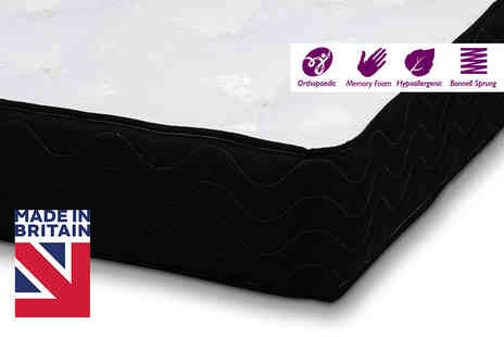 Trusleep - Single, small double, double or king size SleepWell Orthopaedic Memory Foam Sprung Mattress - Save 82%