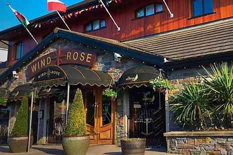 The Windrose - Sirloin Steak Meal for Two or Four - Save 46%