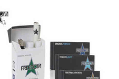 Freedom - An e Cigarette bundle from Freedom Cigarettes including refills equivalent to approximately 280 cigarettes - Save 75%