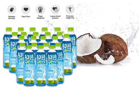 Coconut Merchant - 24 500ml bottles of 100% natural aqua coco coconut water - Save 50%