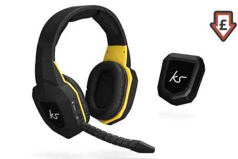 Groupon Goods Global GmbH - KitSound Storm Wireless Gaming Headphones with Microphone - Save 40%