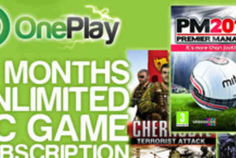 OnePlay.com - 12 month PC Game subscription - Save 75%