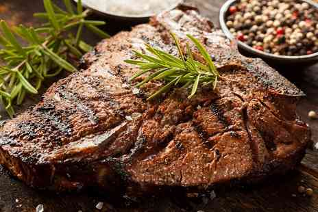 Diablo Bar and Grill - Steak Meal with Wine for Two or Four - Save 41%