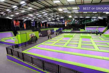 Jump Giants - Trampoline Park Access One or Two Hours for Up to Four - Save 32%