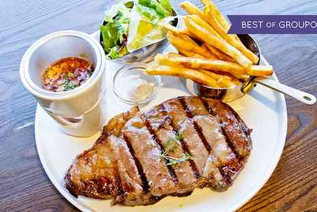 Latitude Restaurant - Sirloin or Rib Eye Steak Meal for Two or Four - Save 45%