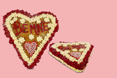 Buckleys Bakery - Personalised Valentines cookie cake including delivery - Save 84%