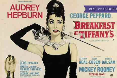 Valentines - Entry for one or two to Breakfast at Tiffanys at Valentines Pop Up Cinema on 12 February - Save 24%