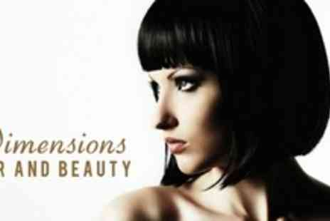 Dimensions Hair and Beauty - Full Head Colour or Half Head Highlights With Restyle, Conditioning Treatment, and Blow Dry - Save 67%