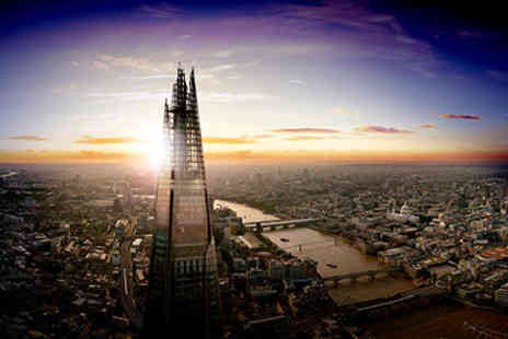 Londons Vivat Bacchus - The View from The Shard and Two Course Dinner with Wine Flight for Two - Save 22%