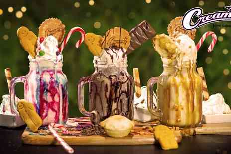 Creams Cafe Luton - Choice of Any Freakshake for Two or Four - Save 0%