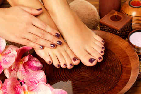 K Levels Photography - Shellac mani or pedi or both - Save 64%