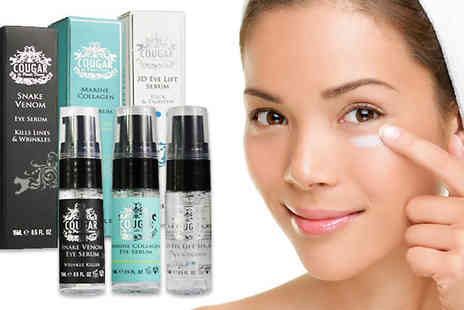 Cougar Beauty Products - Three Piece Luxury Eye Serum Skincare Bundle - Save 88%