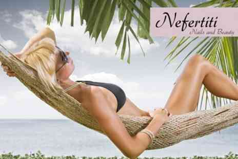 Nefertiti Nails and Beauty - Full Body Spray Tan and Pre Tan Exfoliation for £10 - Save 60%