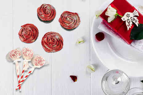 Buckleys Bakery - Valentines cupcakes and three cakepops including delivery - Save 83%