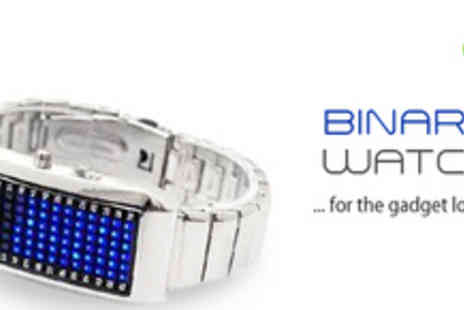 Smartass - Silver Binary Watch for the Gadget Lover - Save 69%