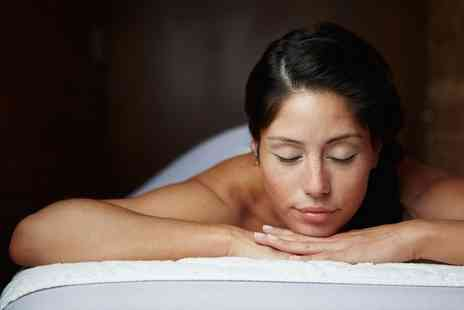 Create a Cut Hair and Beauty - 30 Minute Hot Stone or Swedish Massage with 30 Minute Facial - Save 55%
