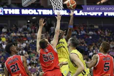 British BasketBall League - Level 4A seating ticket for one child, one or two adults to see Basketball Play Off Finals on 14 May 2017 - Save 25%