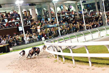 Drumbo Park - Greyhound racing entry for two people with three course dining, programme and two lucky dip bets each - Save 42%