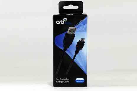Groupon Goods Global GmbH - ORB USB to Micro USB 3m Charging Cable for PS4 - Save 34%
