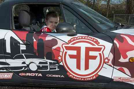 Flatout Factory - Kids drifting experience with VIP pass for one - Save 55%
