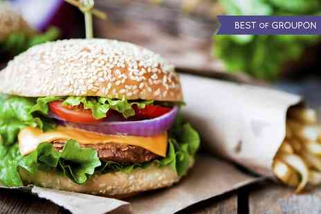Soho Bar and Eatery - Choice of Burger with Fries and Soft Drink for Up to Four - Save 53%