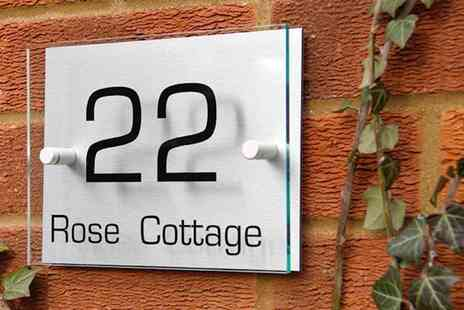 Acrylic Signs UK - Personalised house sign - Save 60%