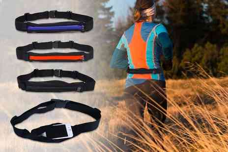 121 Mart - Waterproof running belt with large pocket select from three colours - Save 80%