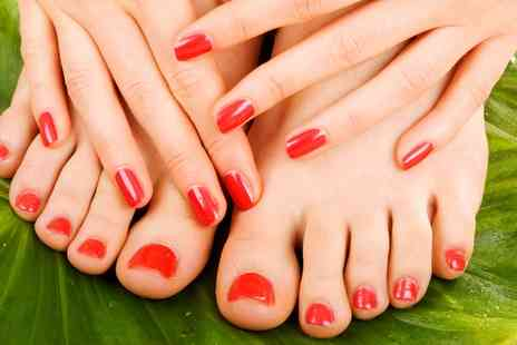 For Him & Her Beauty Clinic - Shellac Manicure or Pedicure or Both - Save 0%