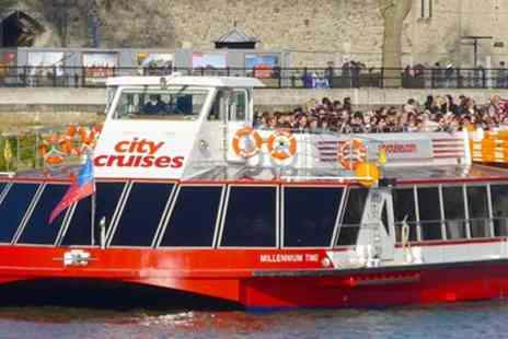City Cruises PLC - Three day hop on, hop off adult ticket on the River Red Rover sightseeing cruise - Save 50%
