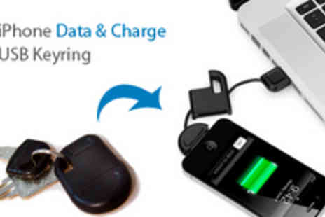 Smartass - iPhone Charger & Sync Cable in a USB Keyring - Save 69%