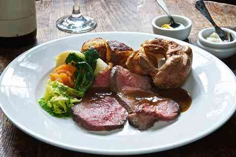 Britannia Hotel - Three Course Carvery or Sunday Lunch with Wine for Two or Four - Save 0%