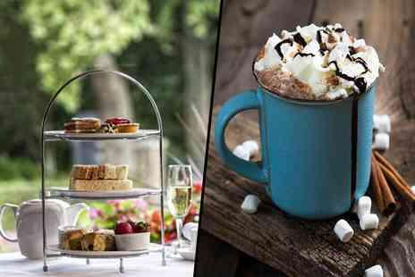 Danubius Hotel Regents Park - Afternoon tea with hot chocolate with a glass of Prosecco or with a glass of Champagne each - Save 62%