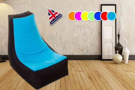 UK Beanbags - Adult sized Laze E beanbag choose from seven funky colours - Save 74%