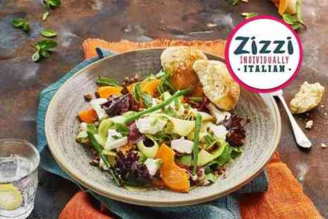 Zizzi - Three course meal for two people including a glass of wine each - Save 41%