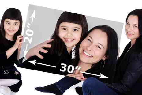 The Picture Company - Mother and Daughter Photoshoot with 20 Inch x 30 Inch Framed Canvas - Save 93%