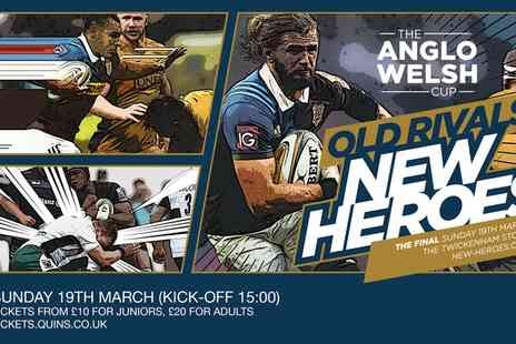 Anglo Welsh Cup Final - One ticket to see the Anglo-Welsh Cup Final on Sunday 19 March - Save 0%