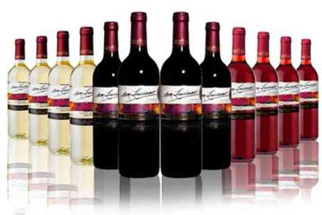 The Vineyard Club - 12 Bottles of Red, White, Rose or Mixed Wine With Free Delivery - Save 64%