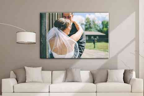 Grangeprint - One or Two A2 Large Personalised Canvas Prints - Save 91%