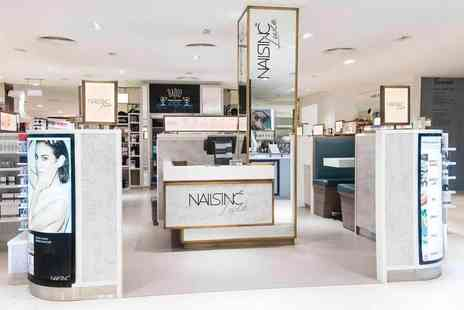 Nails Inc - Nails Inc express manicure, glass of bubbly and gift bag include a nail file, nail polish - Save 76%