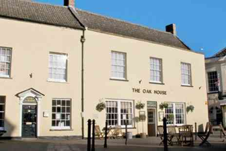 The Oakhouse Hotel - Somerset Market Town Stay with Dinner & Bubbly - Save 0%