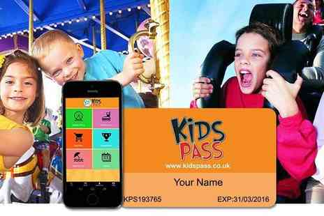 Kids Pass - 12 month Kids Pass to 1000s of attractions, cinemas and restaurants - Save 60%