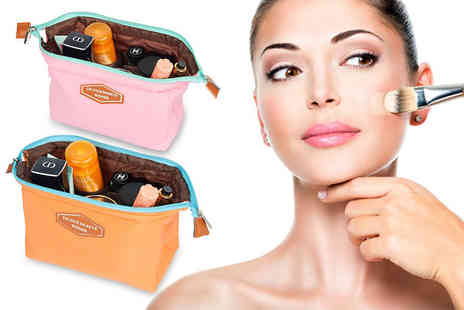 Heads Group - Travel cosmetics pouch choose pink, sky blue, orange or dark blue - Save 45%