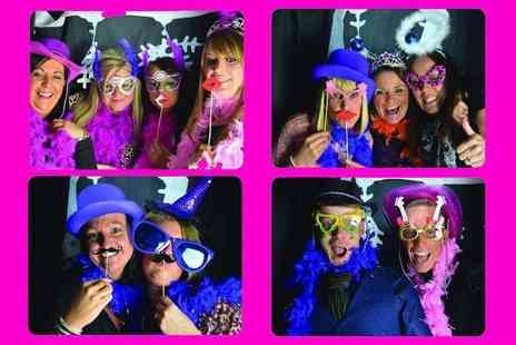 Memories & Giggles - Two hours of photobooth hire with unlimited first prints, unlimited candy floss and popcorn - Save 62%