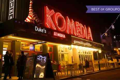 Komedia Brighton - Comedy show entry with a burger meal for one, two or four people on 9 April To 30 July - Save 50%