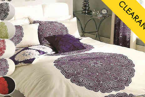 luxury bed and warehouse - Printed Duvet Set - 5 Colours - Save 75%